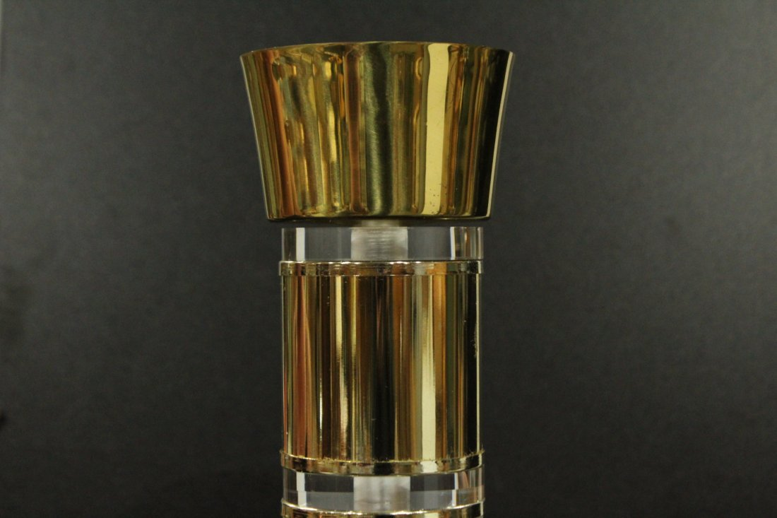 Lucite and Brass floor lamp - 3