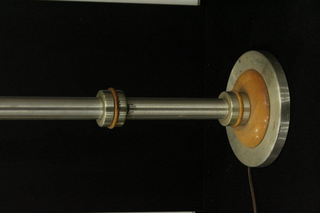 Mid-century brushed aluminum floor lamp - 2