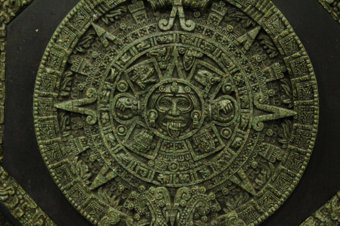 20th C. Cast MAYAN CALENDAR PLAQUE - 2
