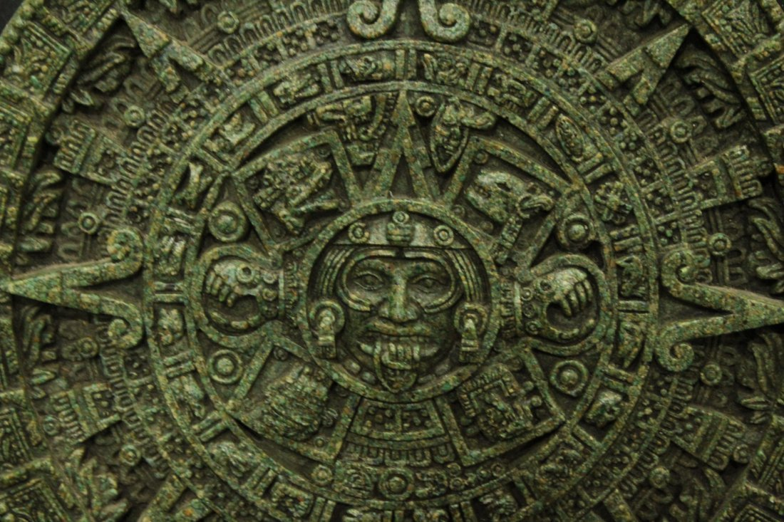 20th C. Cast MAYAN CALENDAR PLAQUE - 3