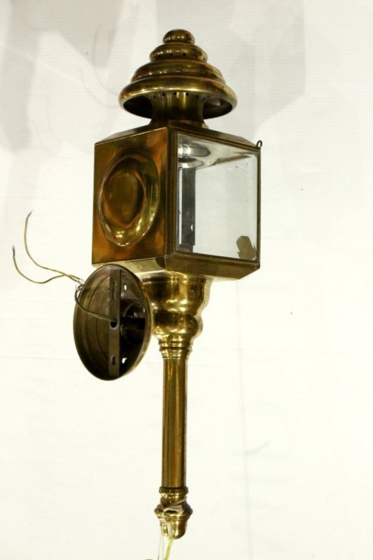 Brass CARRIAGE LAMP STYLE Outdoor Wall Sconce - 2