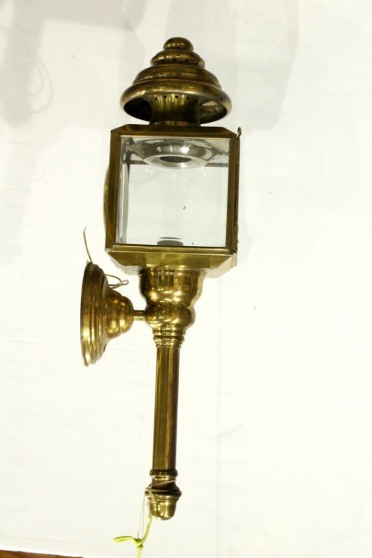 Brass CARRIAGE LAMP STYLE Outdoor Wall Sconce - 3