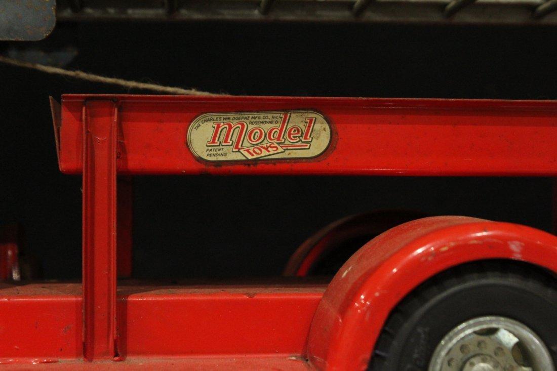 MODEL TOYS ROSSMOYNE Fireman Hook And Ladder Truck - 5