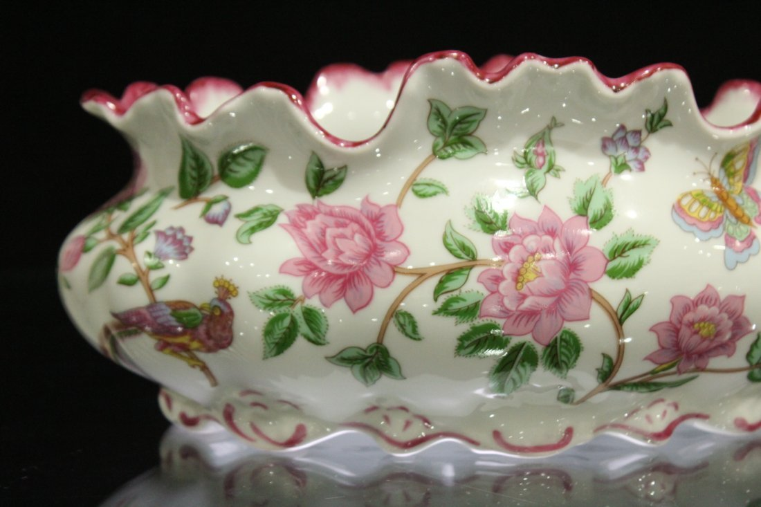 LIMOGES FRANCE Porcelain Center Bowl Floral Decoration - 2