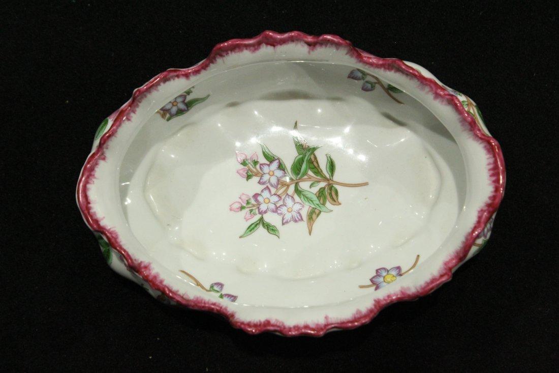 LIMOGES FRANCE Porcelain Center Bowl Floral Decoration - 4