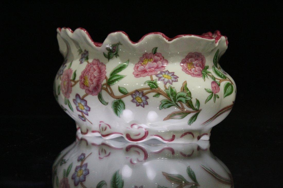LIMOGES FRANCE Porcelain Center Bowl Floral Decoration - 6
