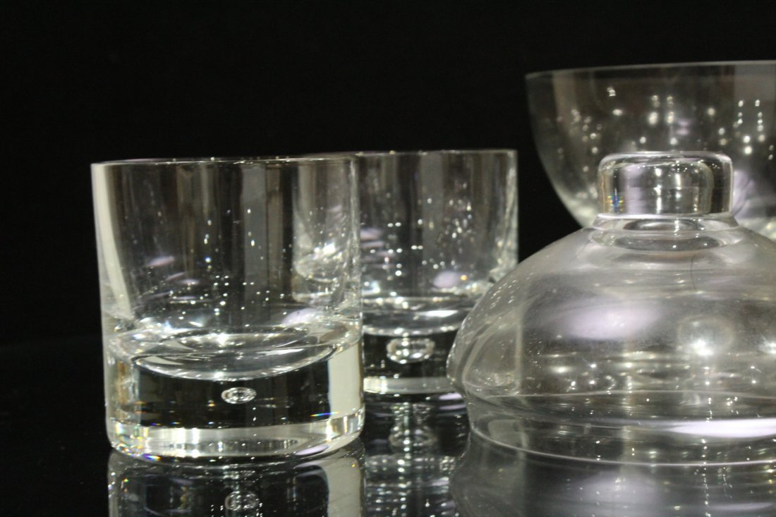SWEDISH GLASS Covered ICE BUCKET with 4 Glasses - 3