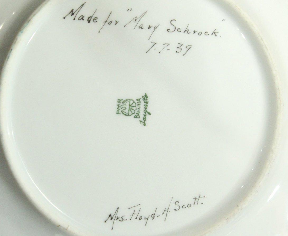 Six [6] PMR BAVARIA Jaeger & Co. Mid-Century Plates - 5