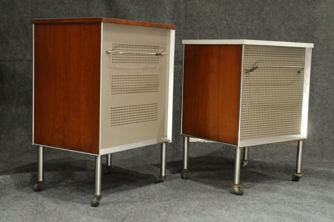 Two [2] HILL-ROM RAYMOND LOEWY INDUSTRIAL NIGHTSTANDS - 6