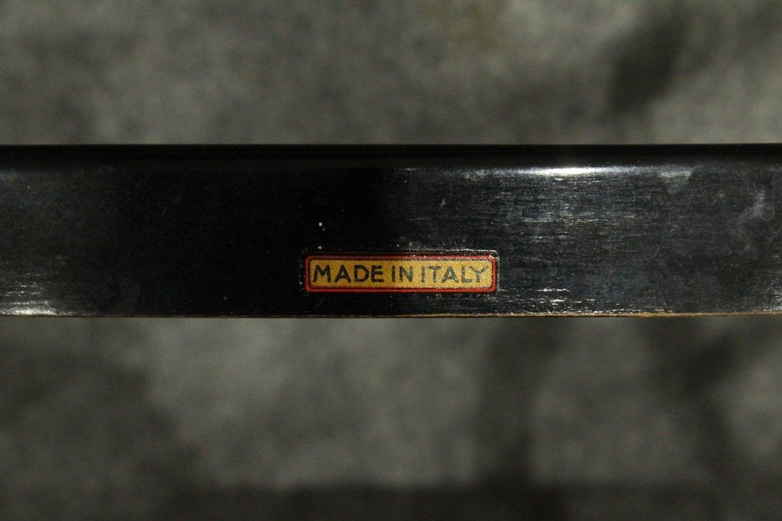 Six [6] ITALIAN GIO PONTI BLACK LADDER BACK CHAIRS - 6