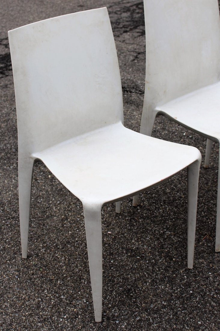 MARIO BELLINI For HELLER Six [6] Molded Chairs Signed - 3