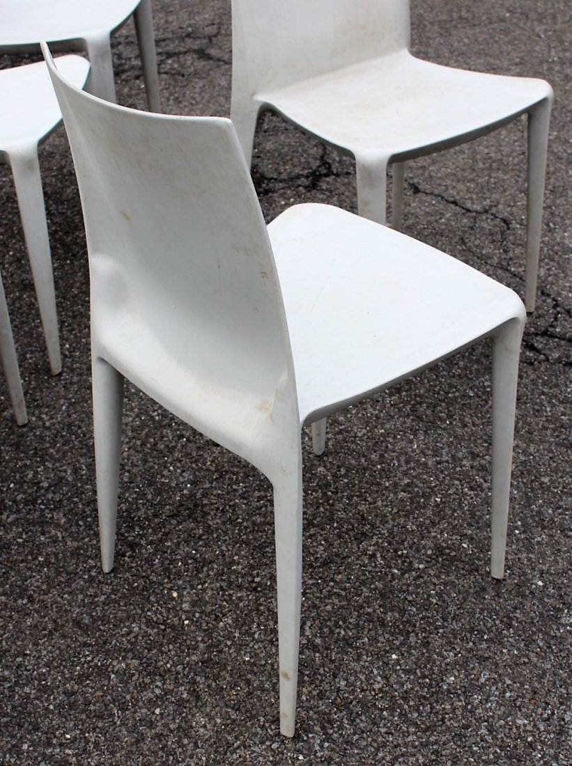 MARIO BELLINI For HELLER Six [6] Molded Chairs Signed - 4