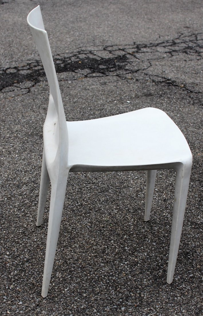 MARIO BELLINI For HELLER Six [6] Molded Chairs Signed - 5