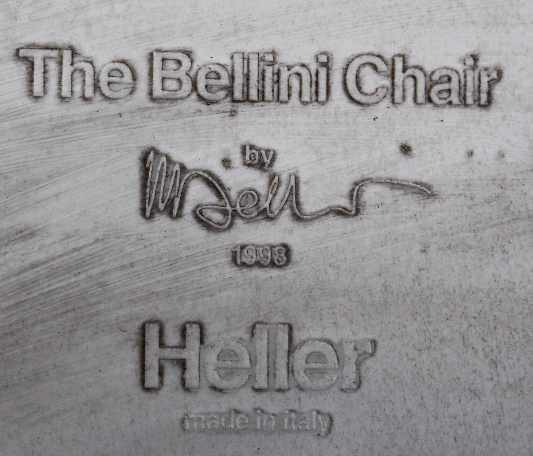 MARIO BELLINI For HELLER Six [6] Molded Chairs Signed - 7
