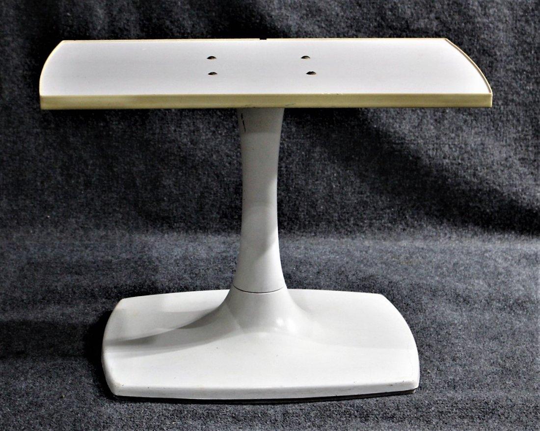 GUSDORF Mid-Century WHITE TULIP BASE TV / STEREO STAND