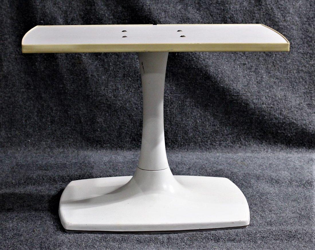 GUSDORF Mid-Century WHITE TULIP BASE TV / STEREO STAND - 2