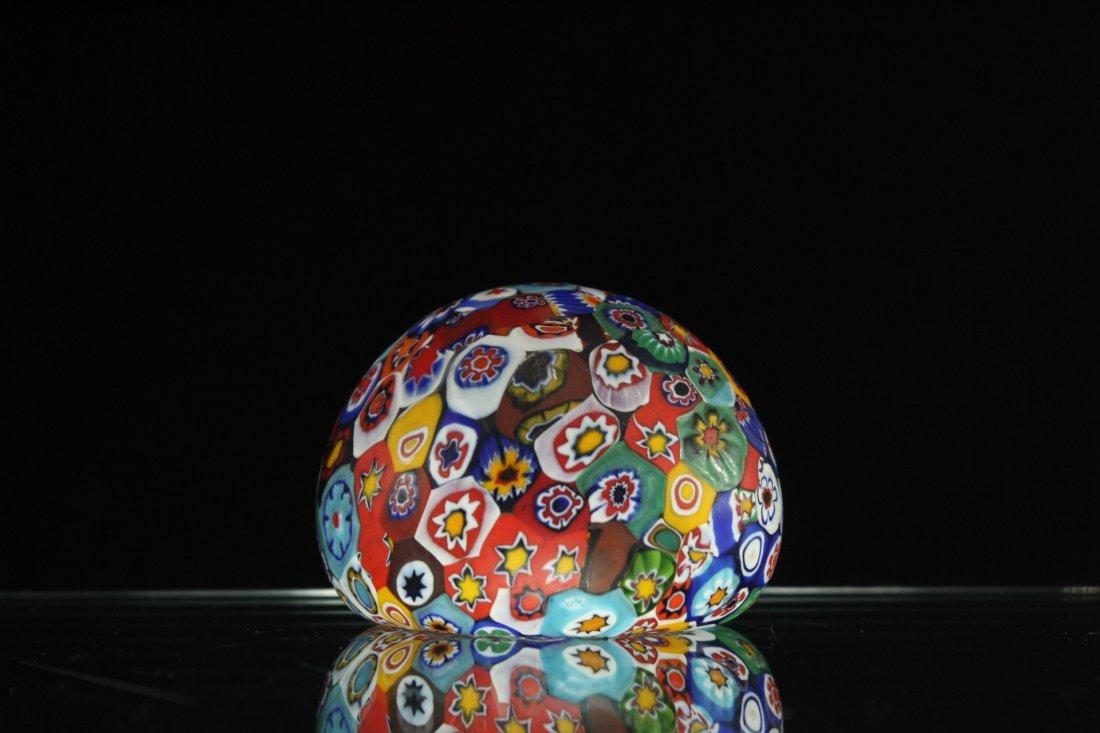 MILLEFIORE ART GLASS PAPERWEIGHT - 2