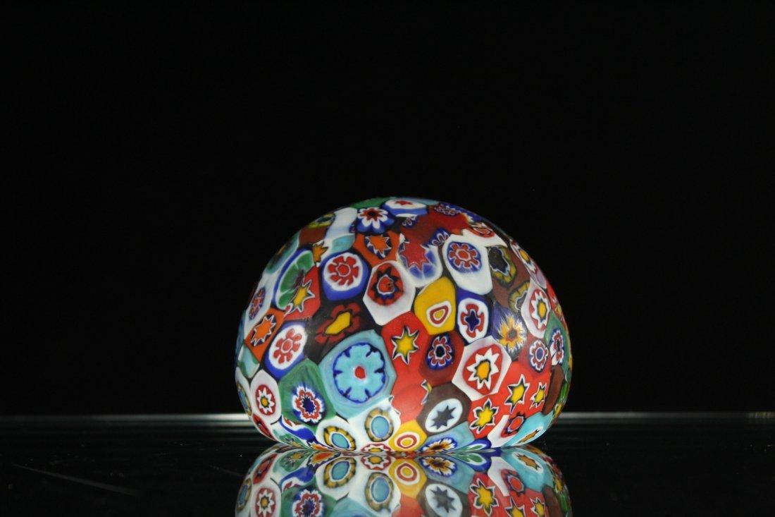 MILLEFIORE ART GLASS PAPERWEIGHT - 3