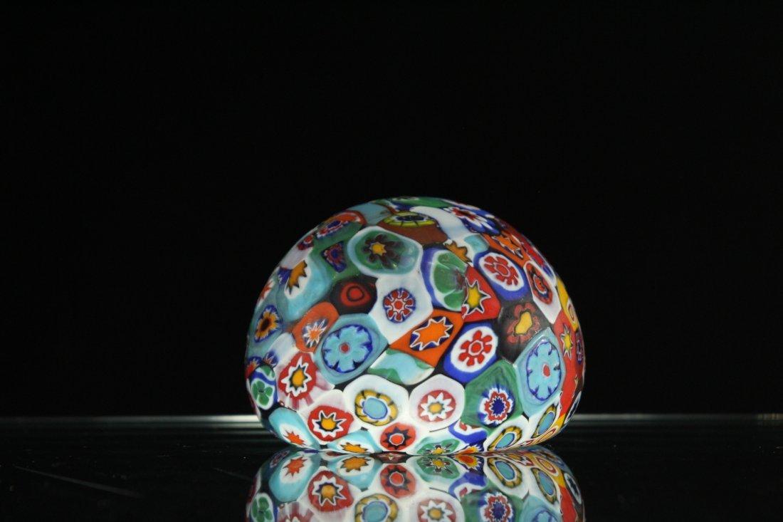 MILLEFIORE ART GLASS PAPERWEIGHT - 4