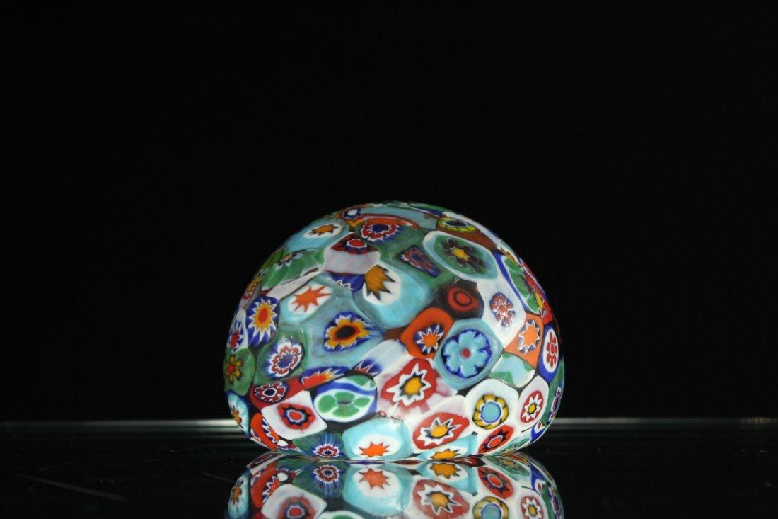 MILLEFIORE ART GLASS PAPERWEIGHT - 5