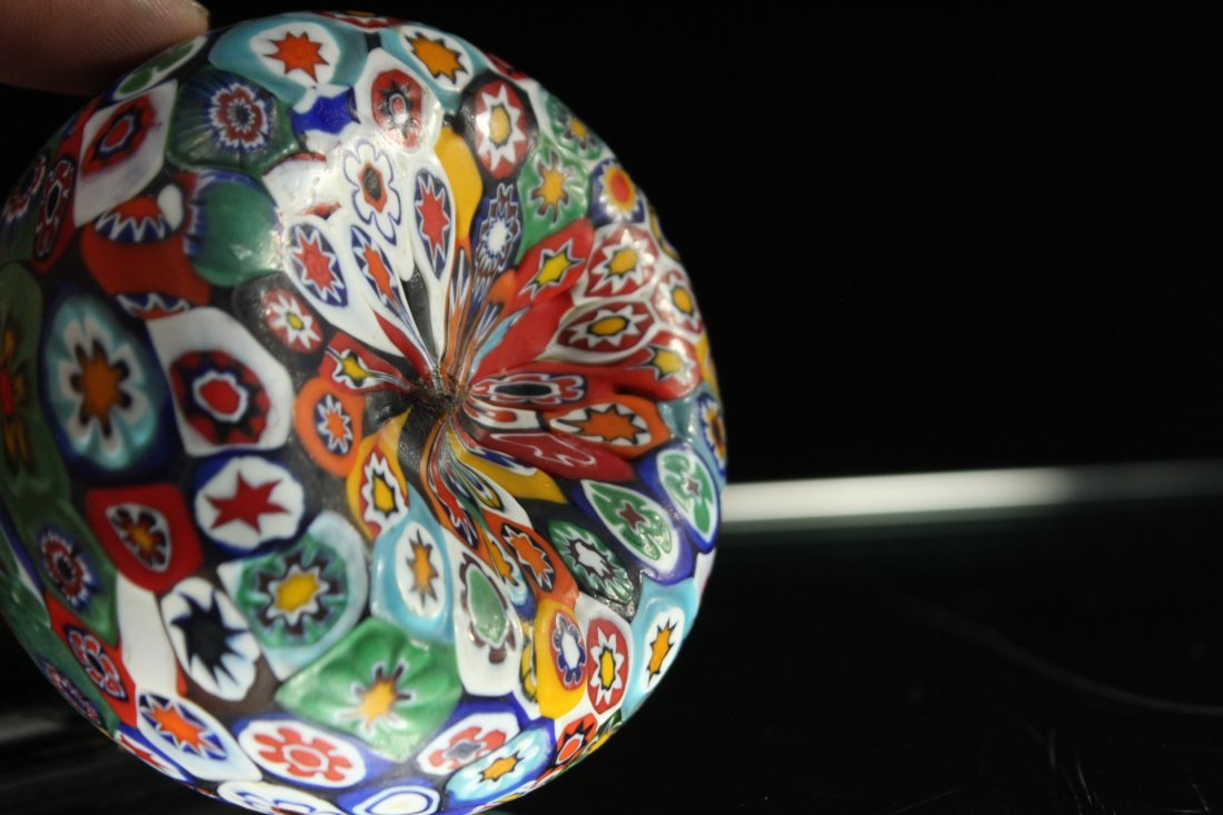 MILLEFIORE ART GLASS PAPERWEIGHT - 6