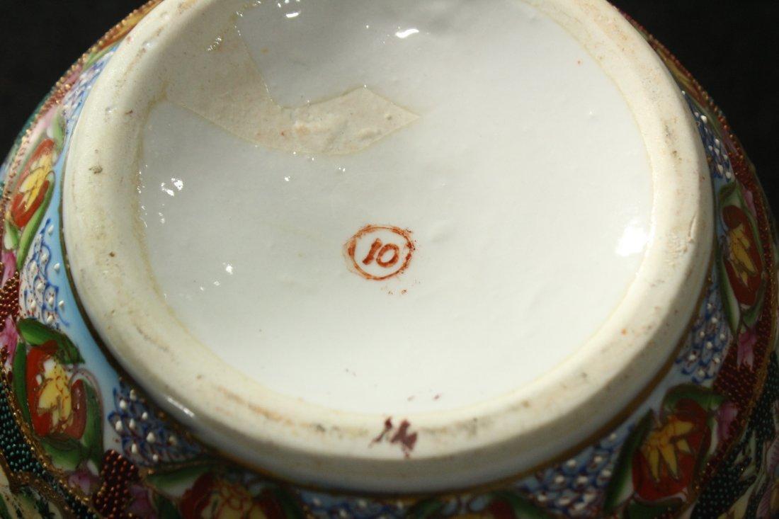 Oriental SATSUMA VASE WITH RUFFLED TOP - 6