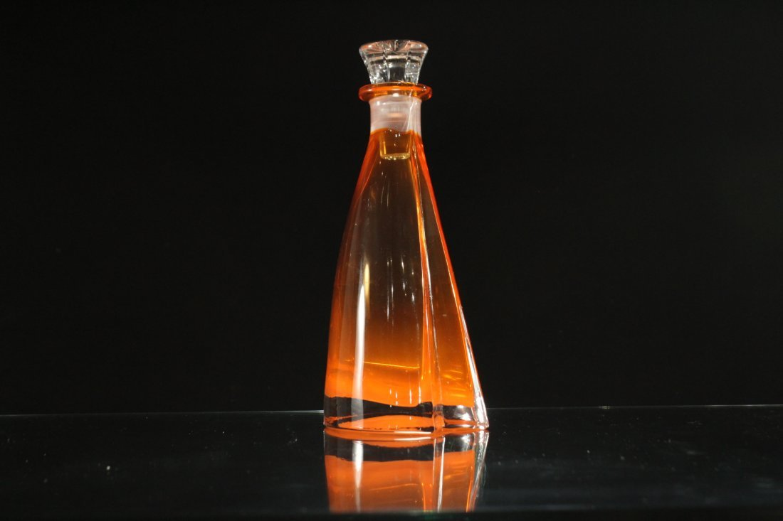 Mid-Century AMBER SWEDISH GLASS DECANTER WITH STOPPER