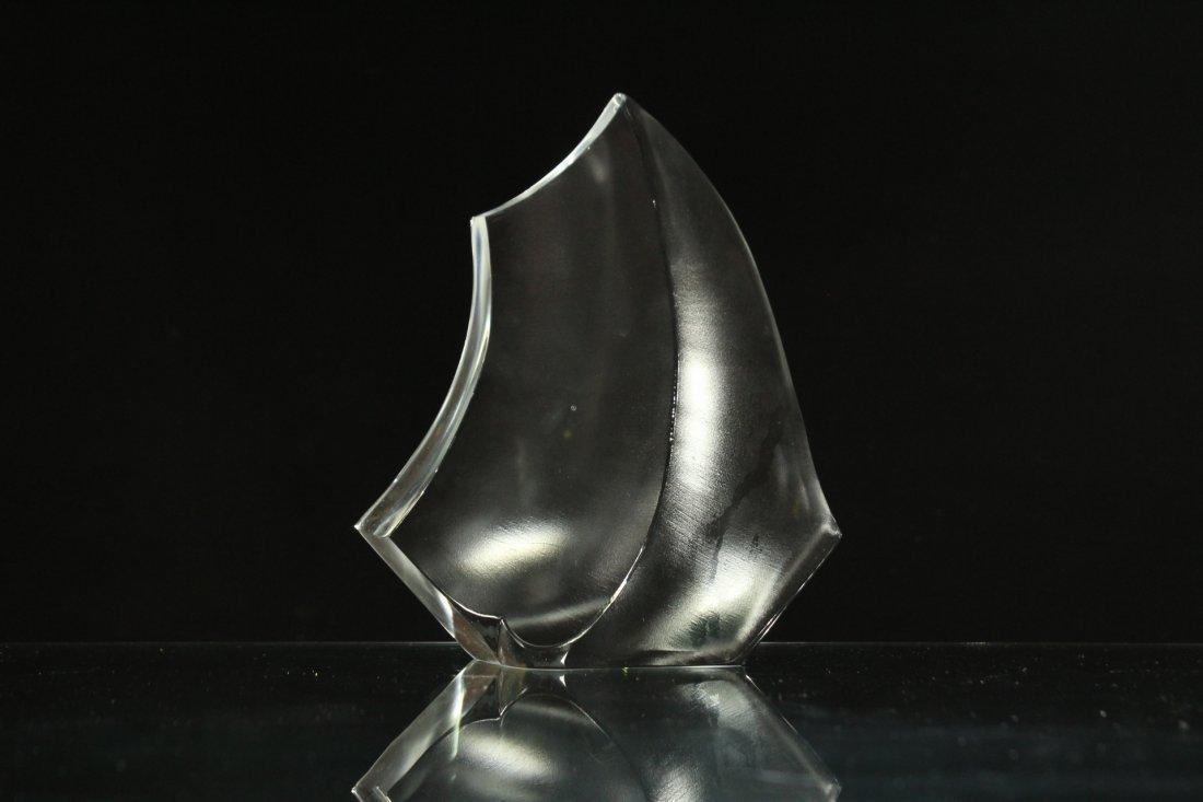 Mid-Century Modern GLASS SCULPTURE Signed