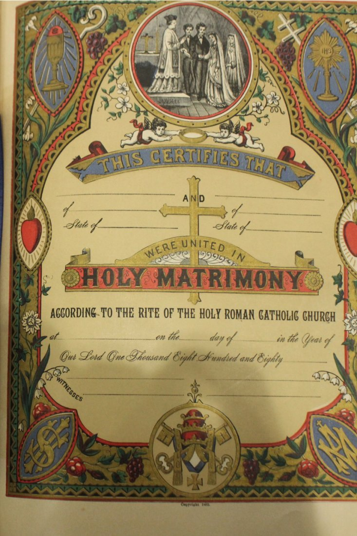 Antique 19th C. HOLY BIBLE - Very Large, Color Plates - 7