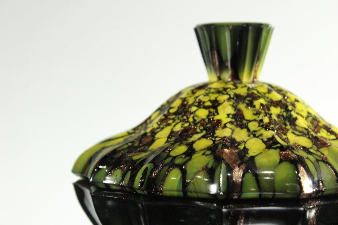 Mid-Century ITALIAN ART GLASS COVERED BOWL - 2