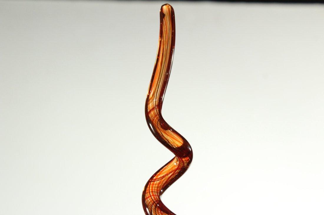 Mid-Century MURANO Italian Art Glass CURLED SCULPTURE - 3