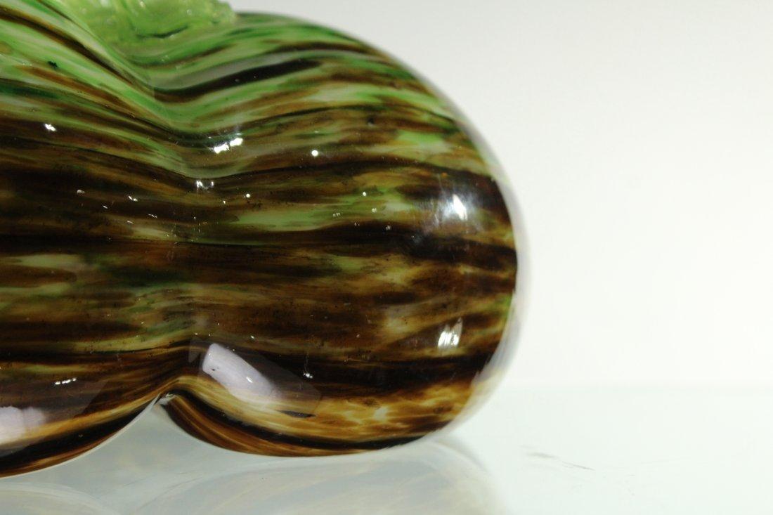 MURANO Italian Art Glass PUMPKIN SCULPTURE - 4