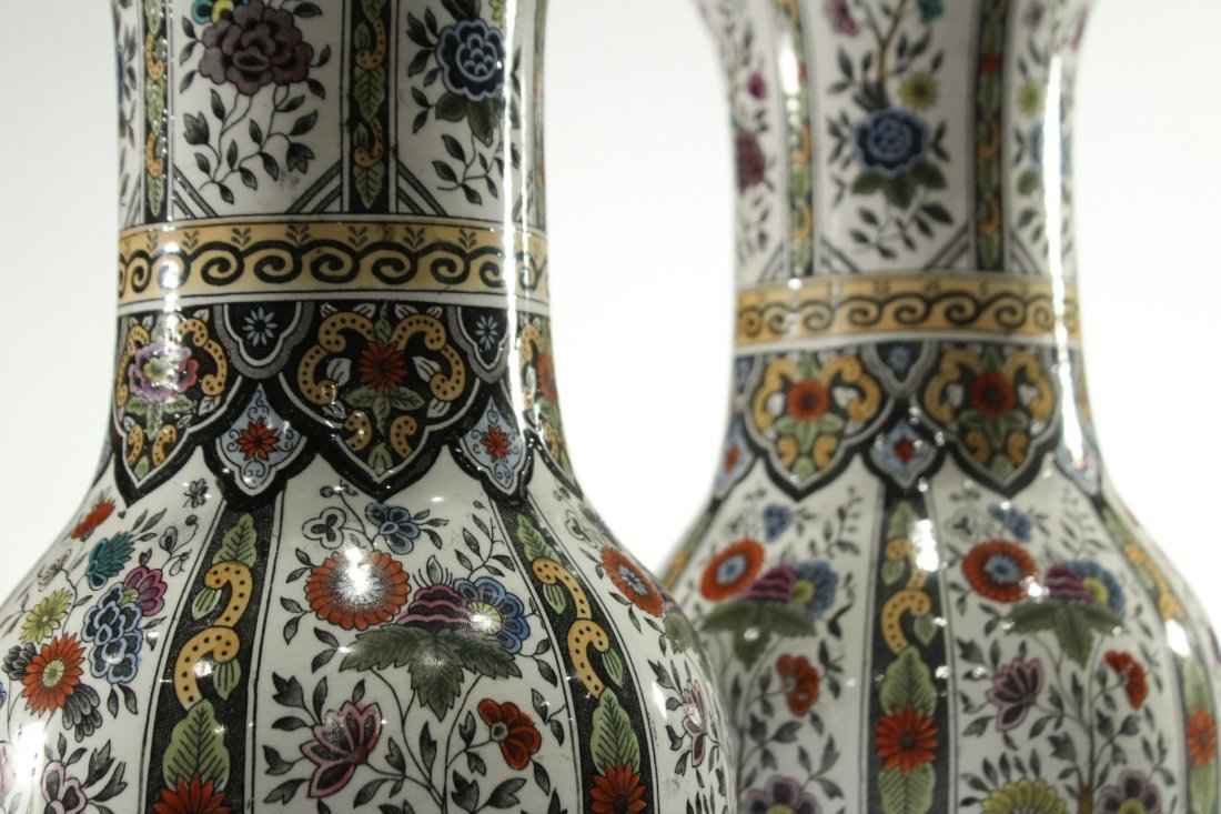 Two [2] PETRUS REGOUT MAASTRIGHT HOLLAND VASES - 2