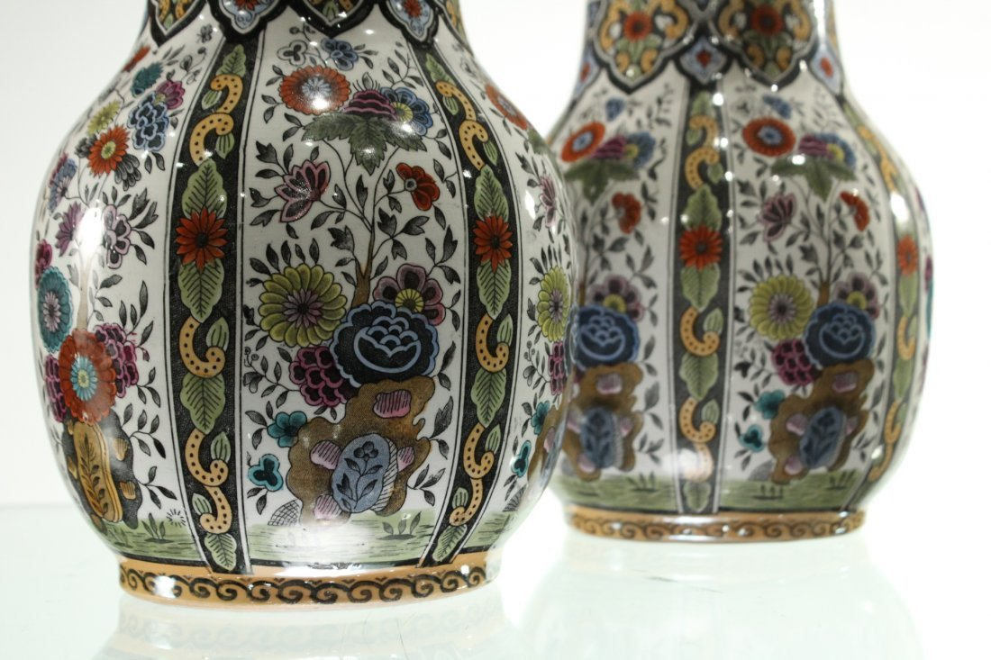 Two [2] PETRUS REGOUT MAASTRIGHT HOLLAND VASES - 3
