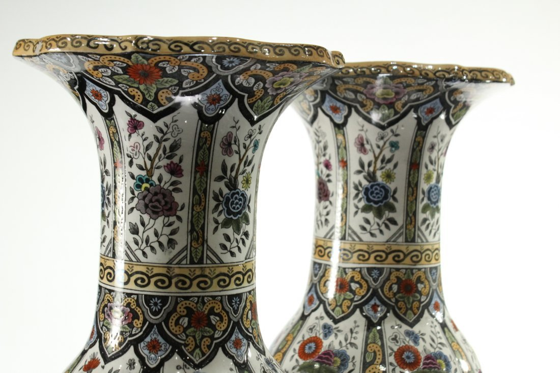 Two [2] PETRUS REGOUT MAASTRIGHT HOLLAND VASES - 4
