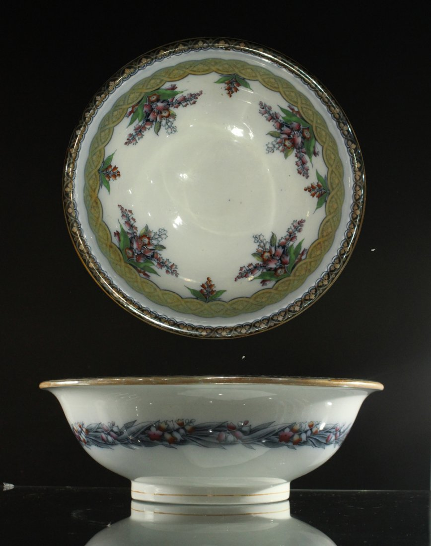 H & W LILY 19th C. FINE PORCELAIN LARGE BOWL