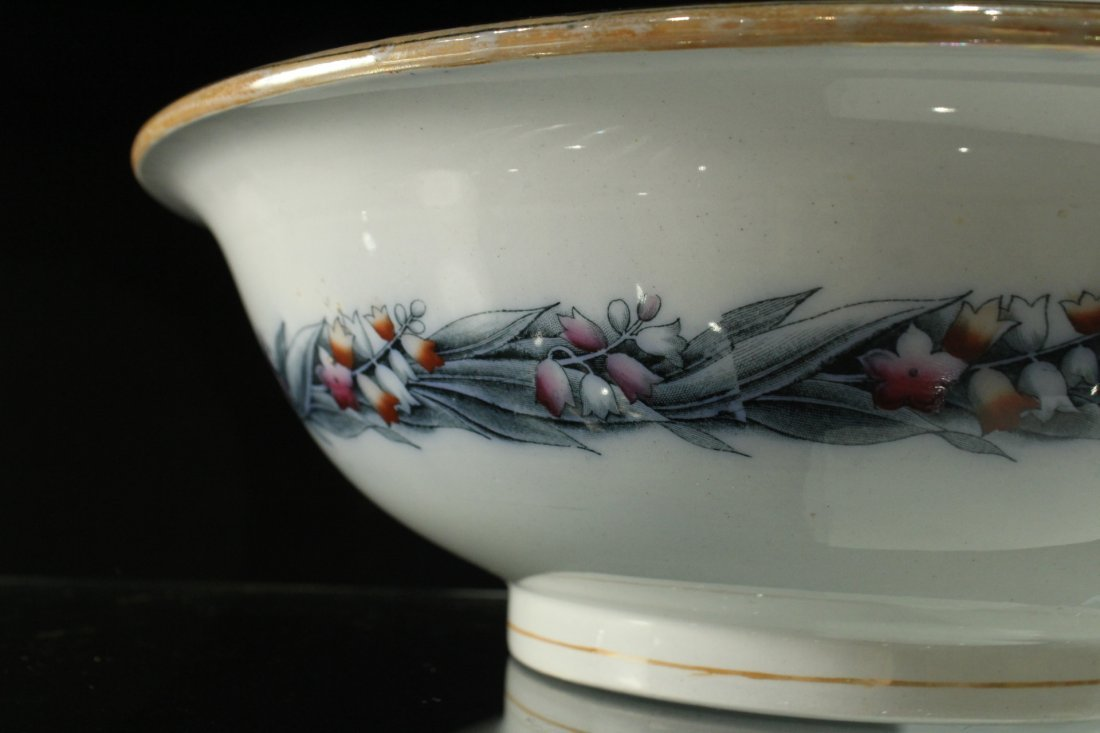 H & W LILY 19th C. FINE PORCELAIN LARGE BOWL - 2