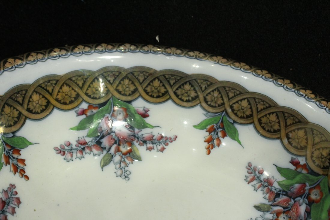 H & W LILY 19th C. FINE PORCELAIN LARGE BOWL - 4