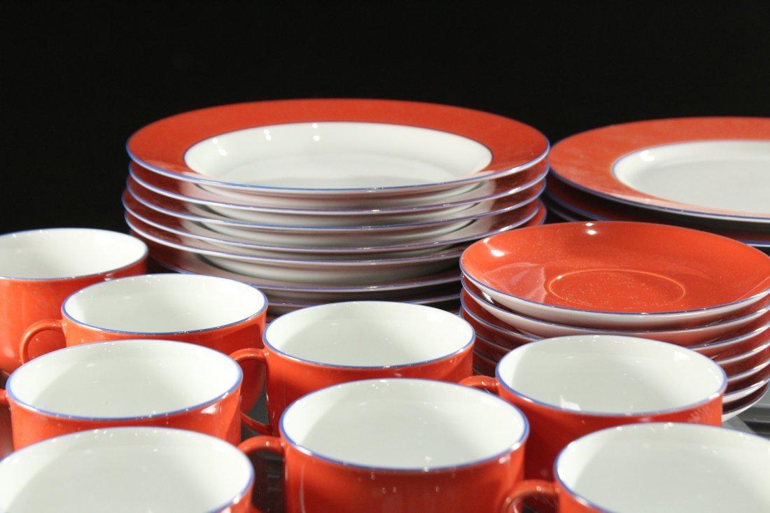 TOGNANA ITALY 58-Piece Porcelain Dinner ORANGE WHITE - 2