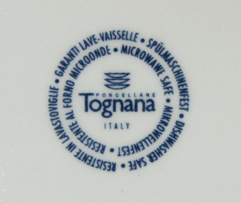 TOGNANA ITALY 58-Piece Porcelain Dinner ORANGE WHITE - 5