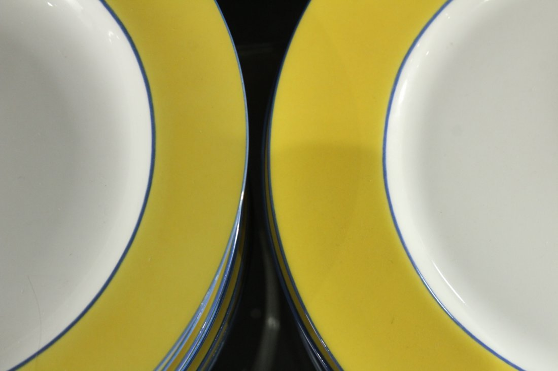 TOGNANA ITALY 33-Piece Porcelain Dinner YELLOW WHITE - 5