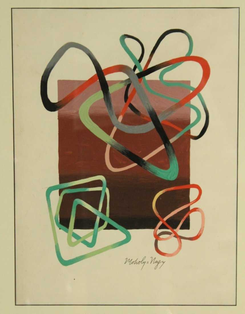MOHOLY-NAGY, Modernism Abstract Gouache Painting