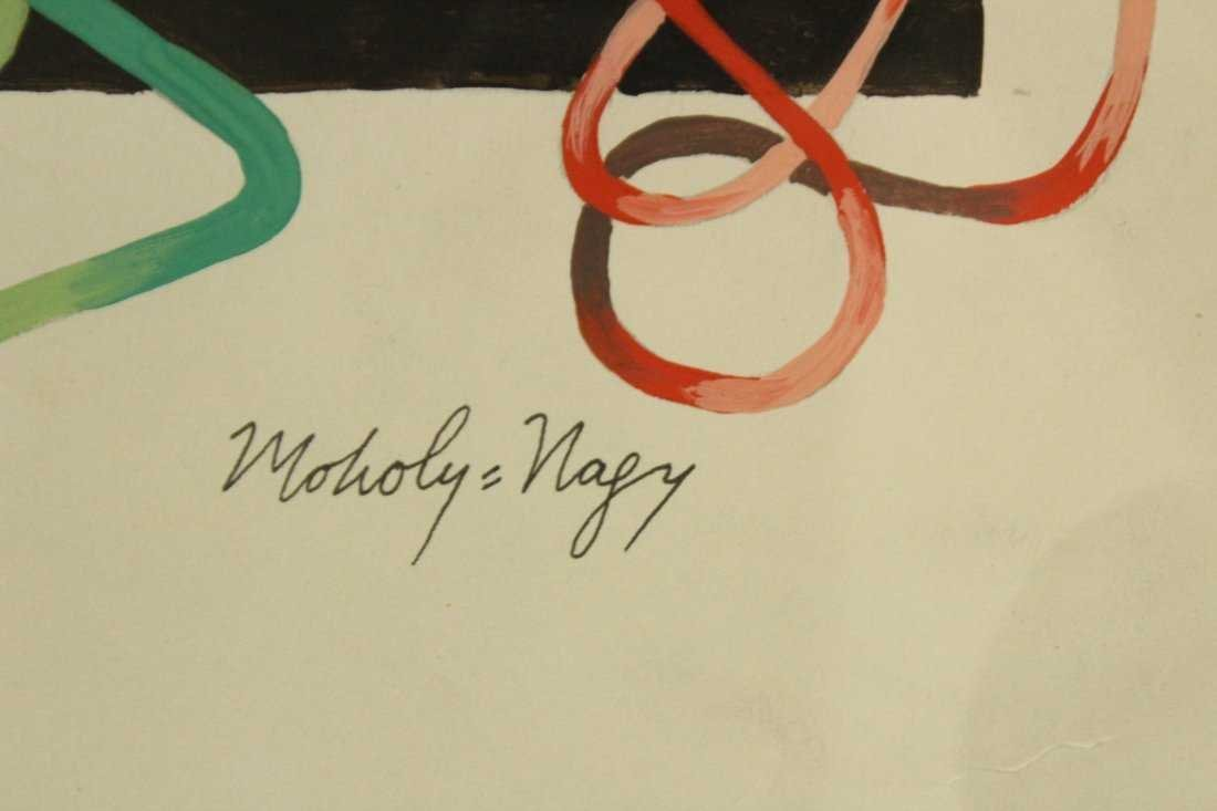 MOHOLY-NAGY, Modernism Abstract Gouache Painting - 3