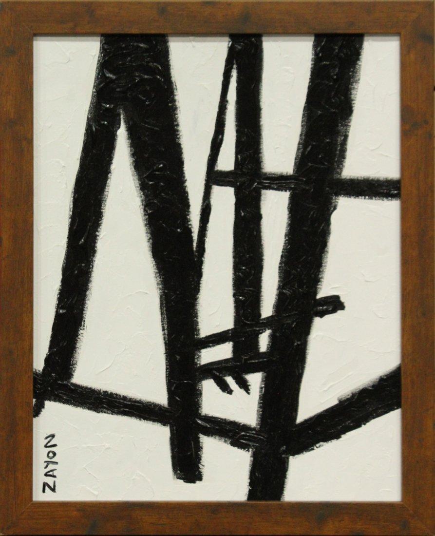 SEYMOUR ZAYON Mid Century Modern ABSTRACT BLACK WHITE
