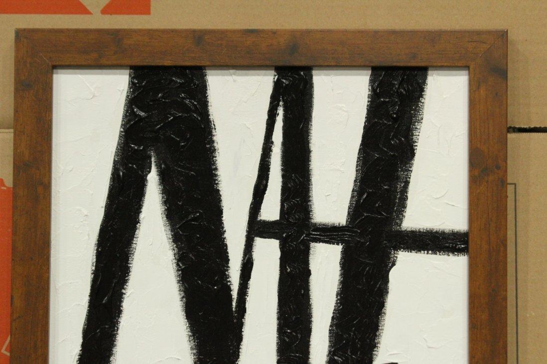 SEYMOUR ZAYON Mid Century Modern ABSTRACT BLACK WHITE - 2