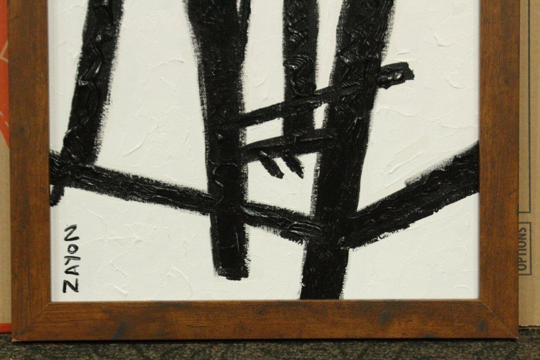SEYMOUR ZAYON Mid Century Modern ABSTRACT BLACK WHITE - 3