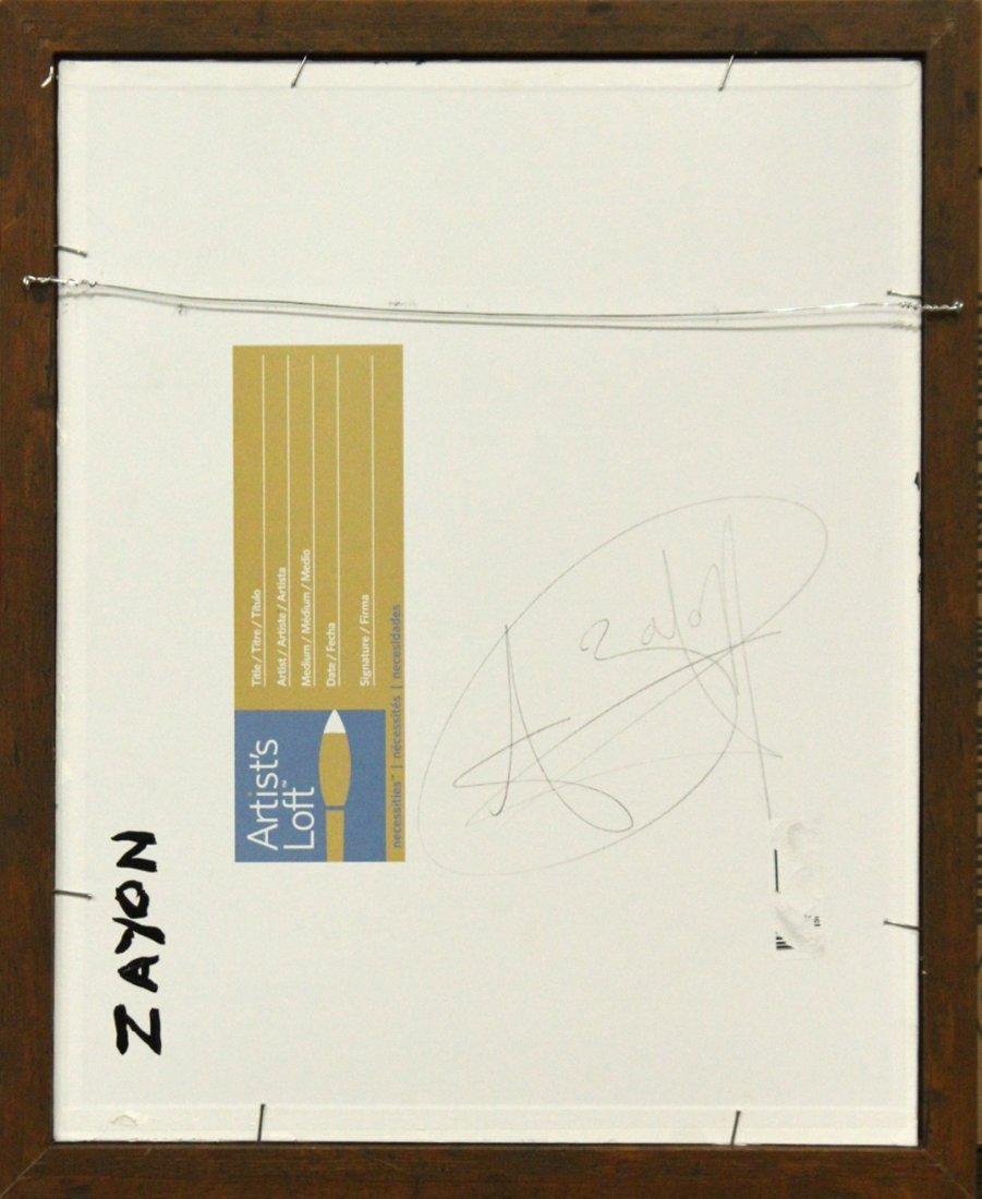 SEYMOUR ZAYON Mid Century Modern ABSTRACT BLACK WHITE - 4