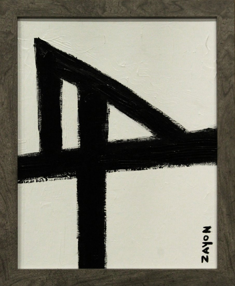 SEYMOUR ZAYON Mid Century Modern ABSTRACT BLACK WHITE