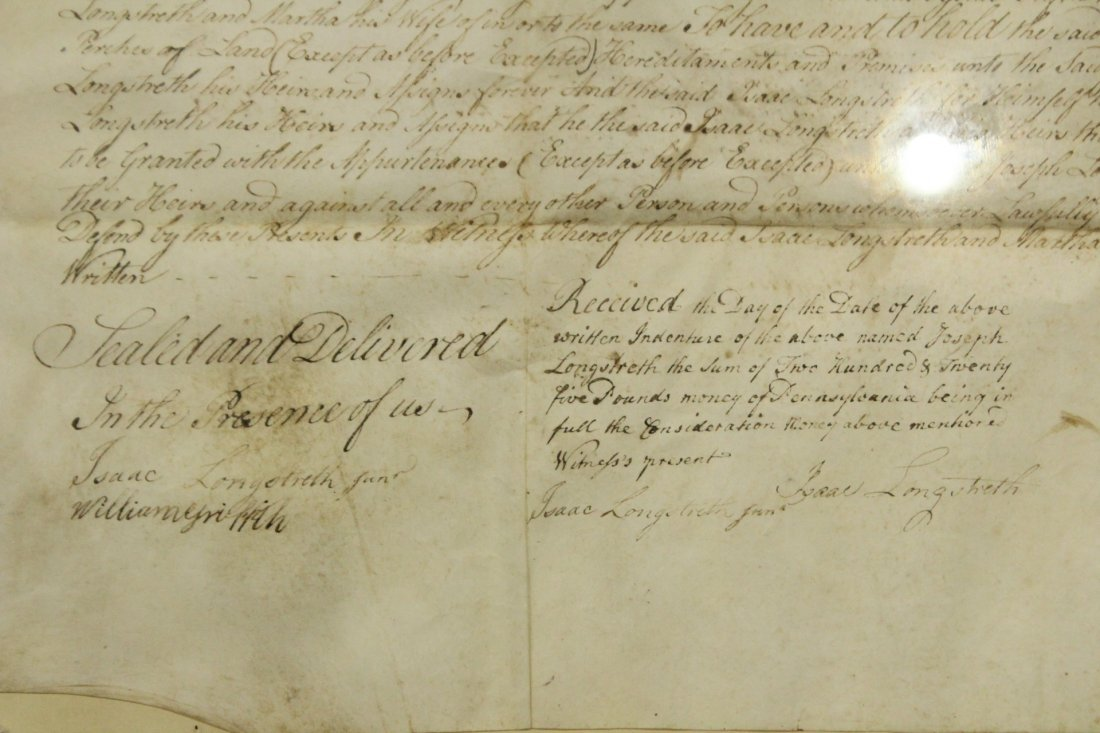 Dated 1787 INDENTURE With SEALS, FRAMED Under Glass - 3