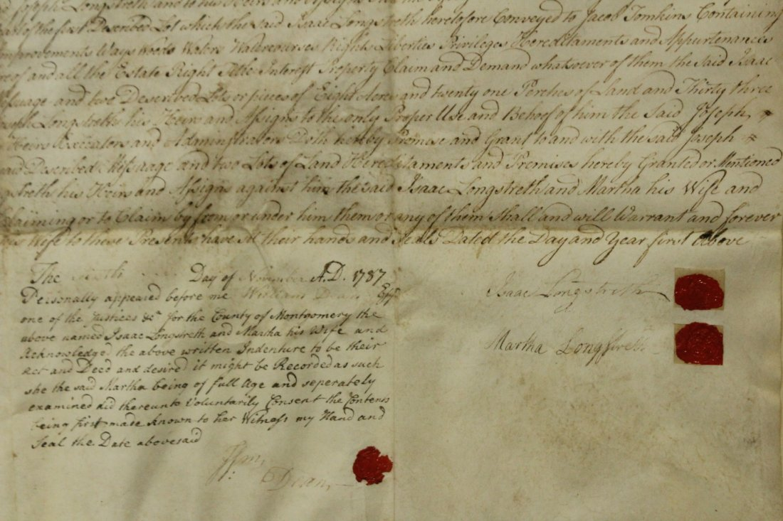 Dated 1787 INDENTURE With SEALS, FRAMED Under Glass - 4